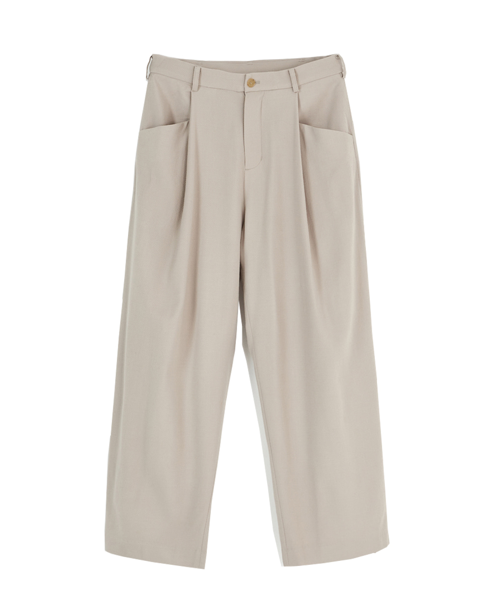 유스 Structured Wide Pants (Beige)