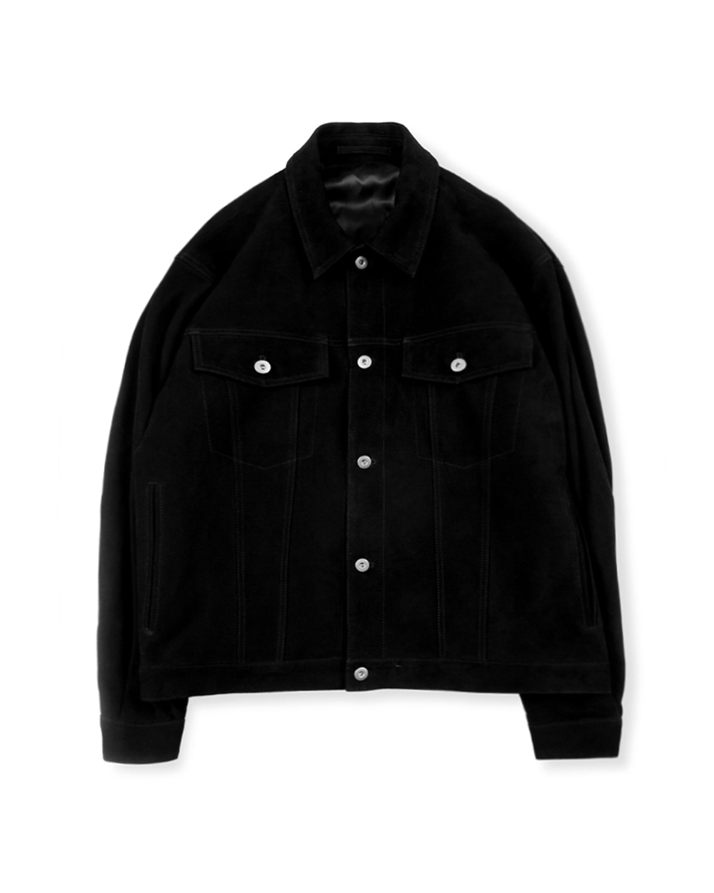 브라운야드 SUEDE TRUCKER JACKET (Black)