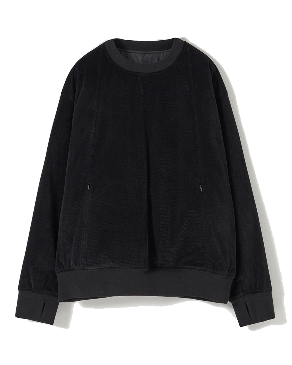 유스 Reversible Padded Sweatshirt (Black)