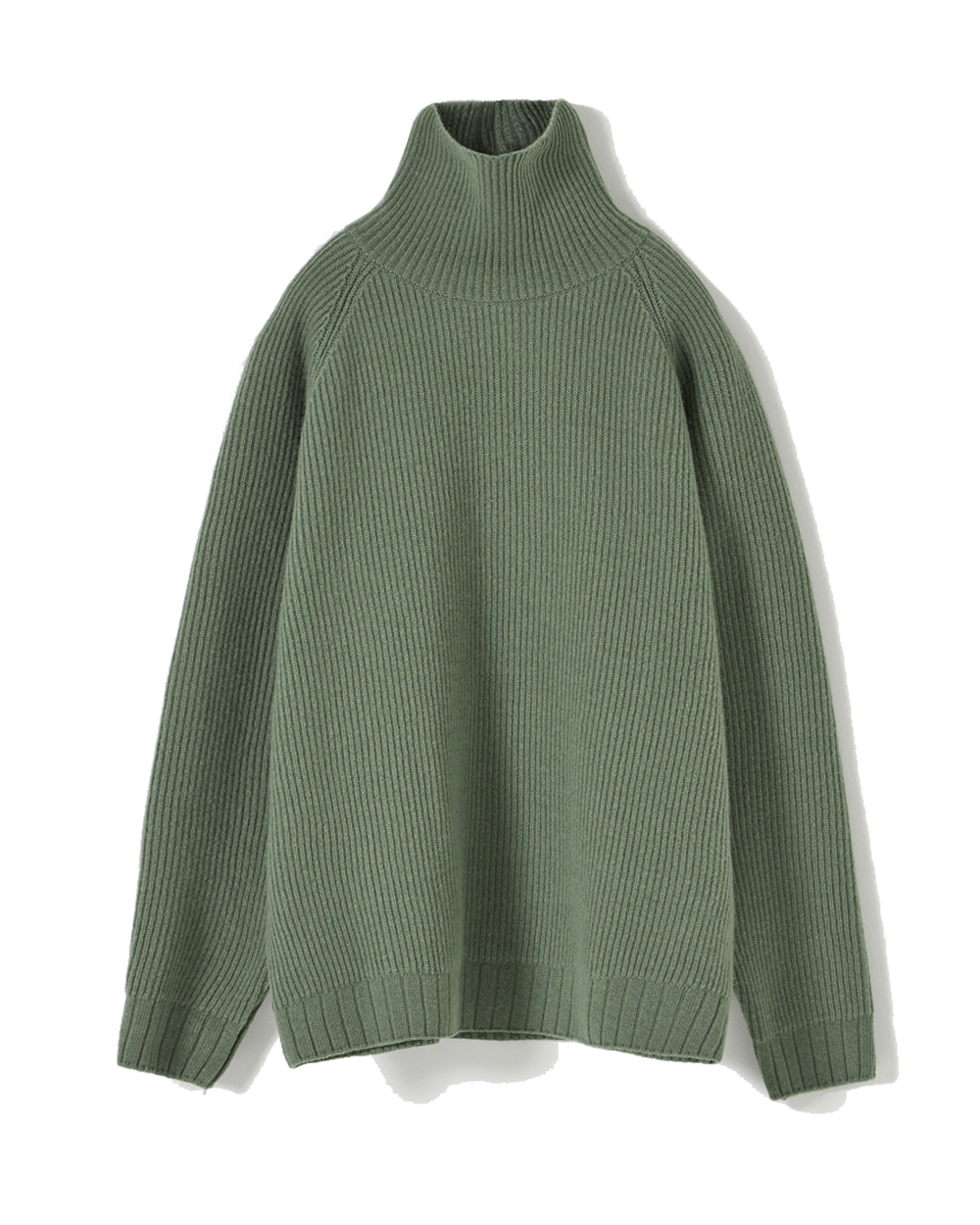 유스 Oversized Turtle Neck Sweater (Pale green)