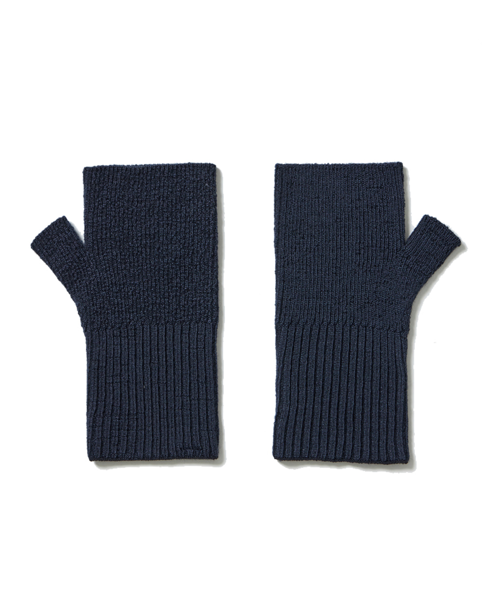 유스 Fingerless Gloves (Navy)