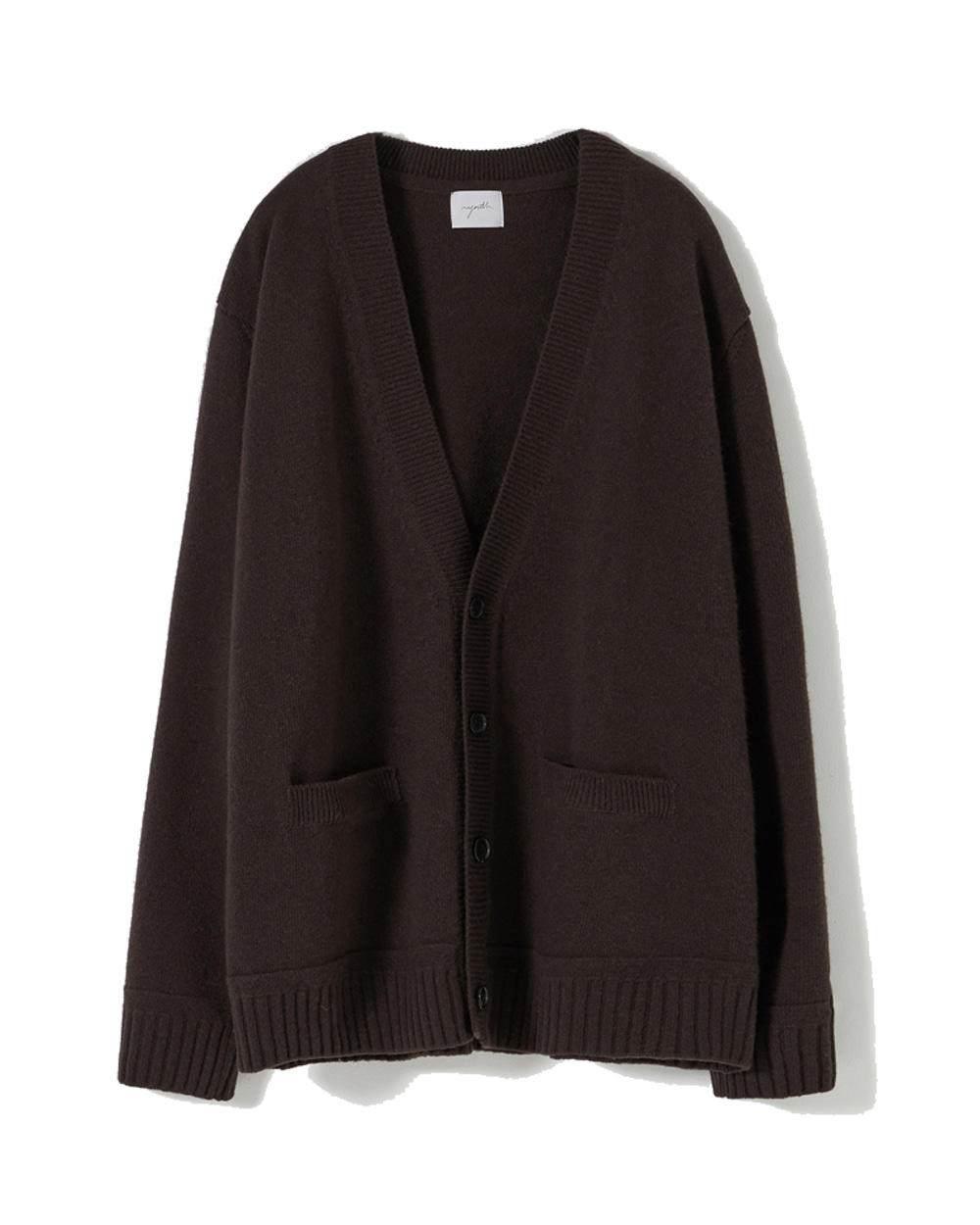 유스 Oversized Cardigan (Dark brown)
