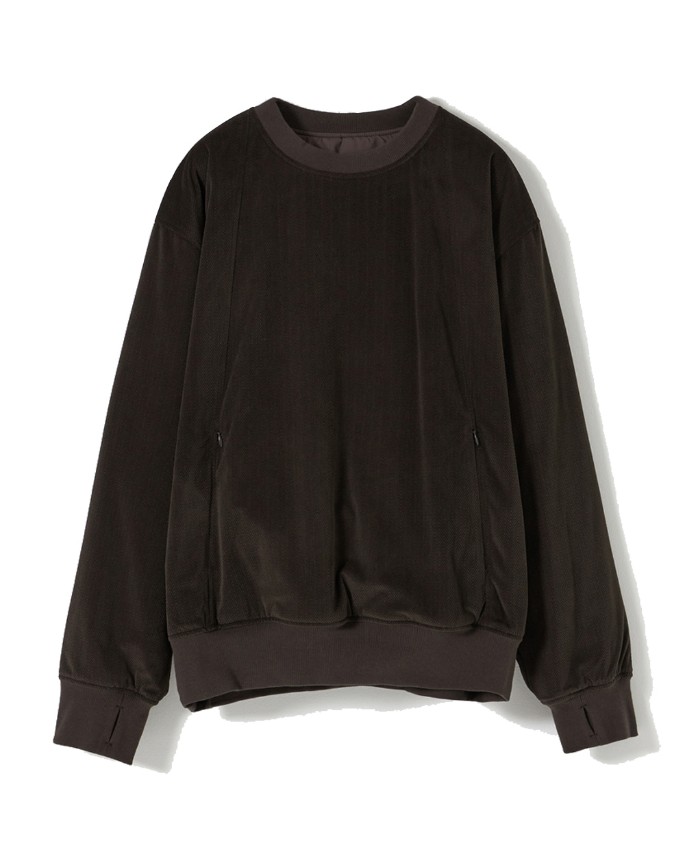 유스 Reversible Padded Sweatshirt (Brown)