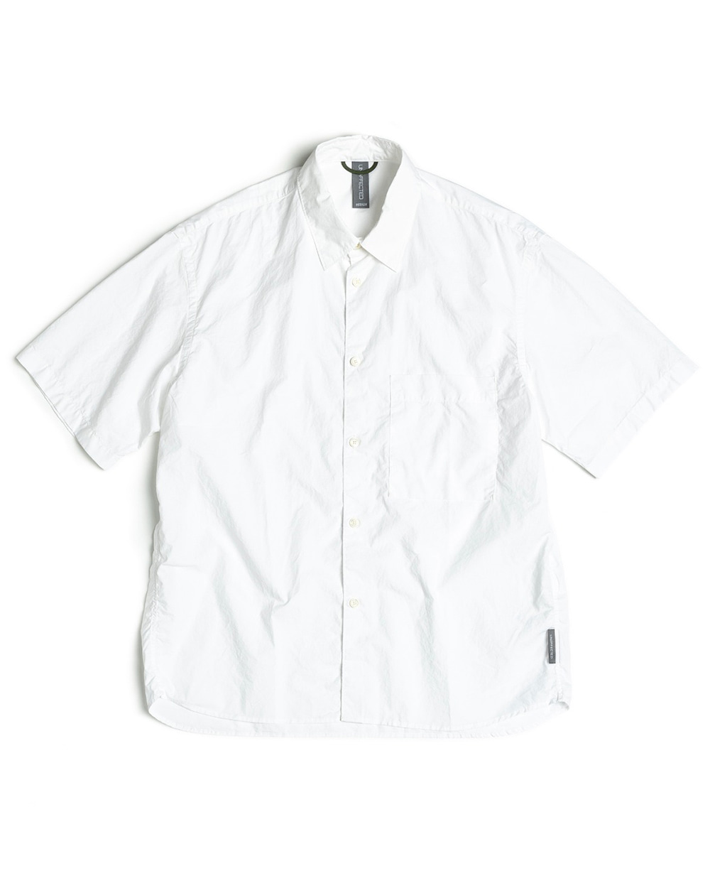 언어펙티드 LOGO LABEL HALF SHIRT (Off white)