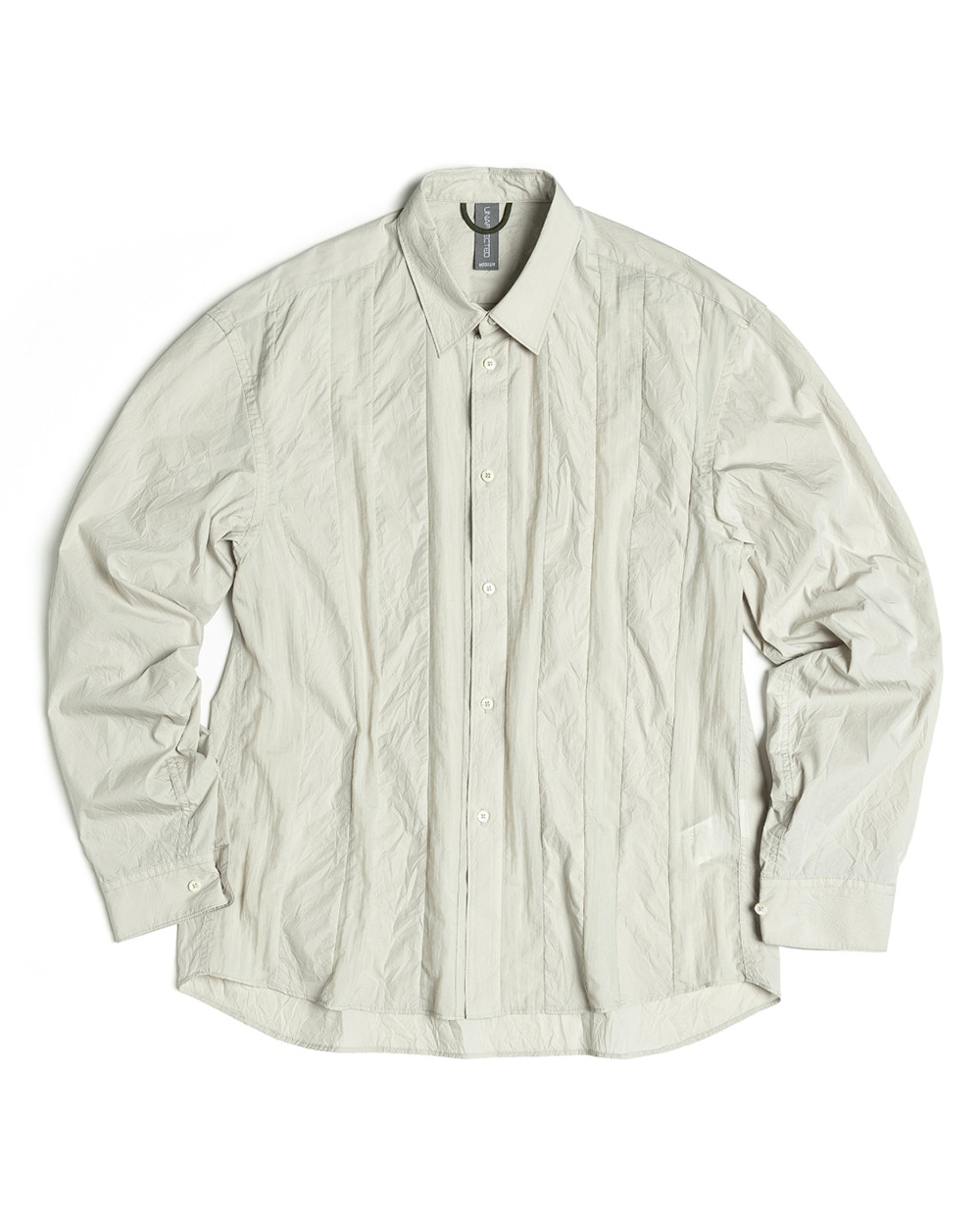 언어펙티드 CONTRAST PANEL SHIRT (Light grey)