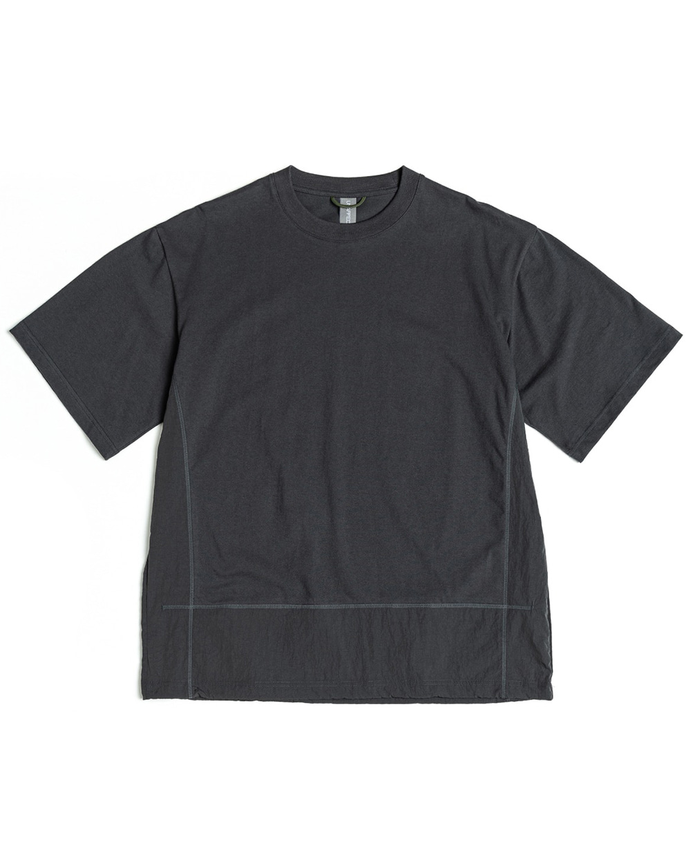 언어펙티드 CONTRAST PANEL T-SHIRT (Charcoal blue)