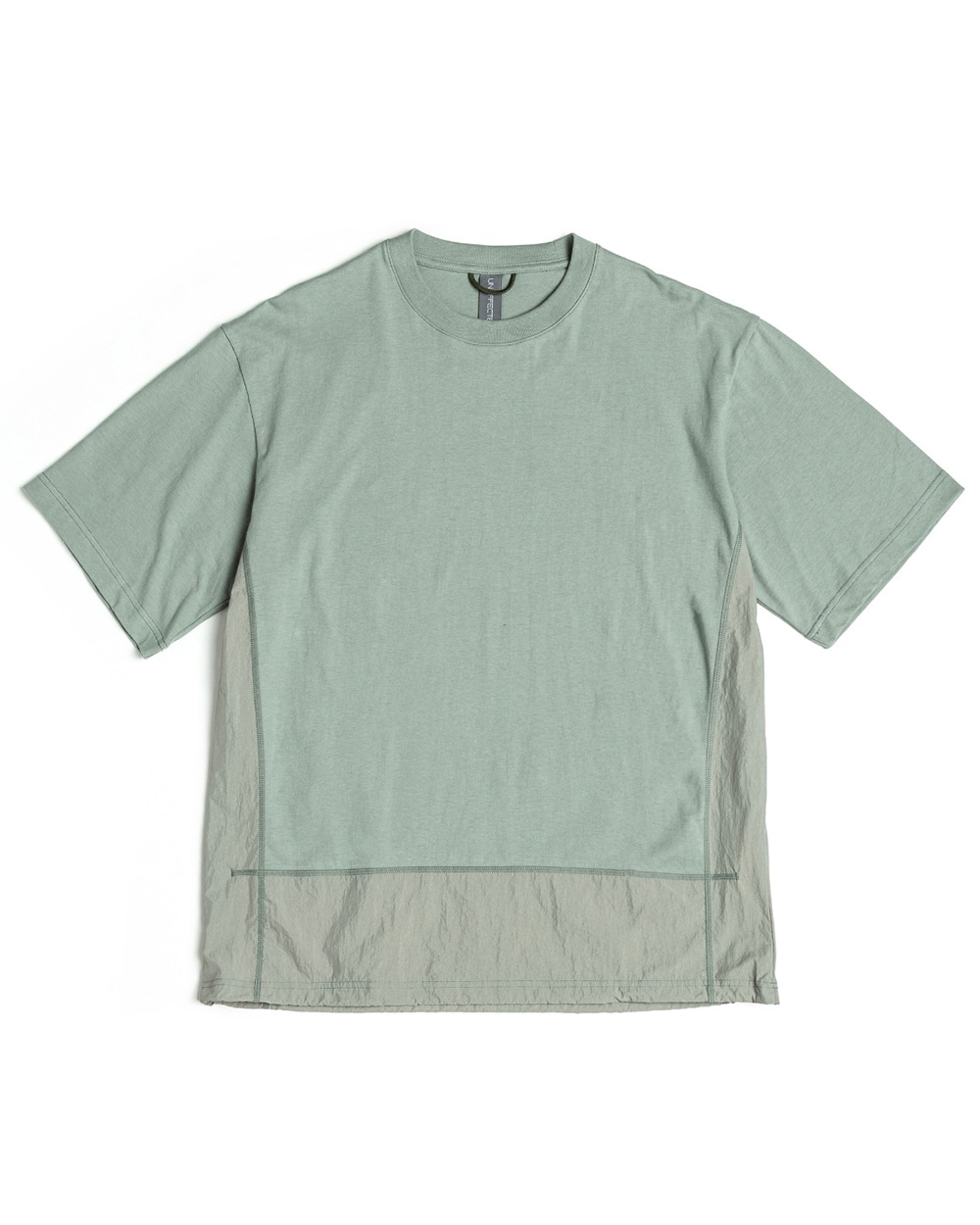 언어펙티드 CONTRAST PANEL T-SHIRT (Aqua smoke)