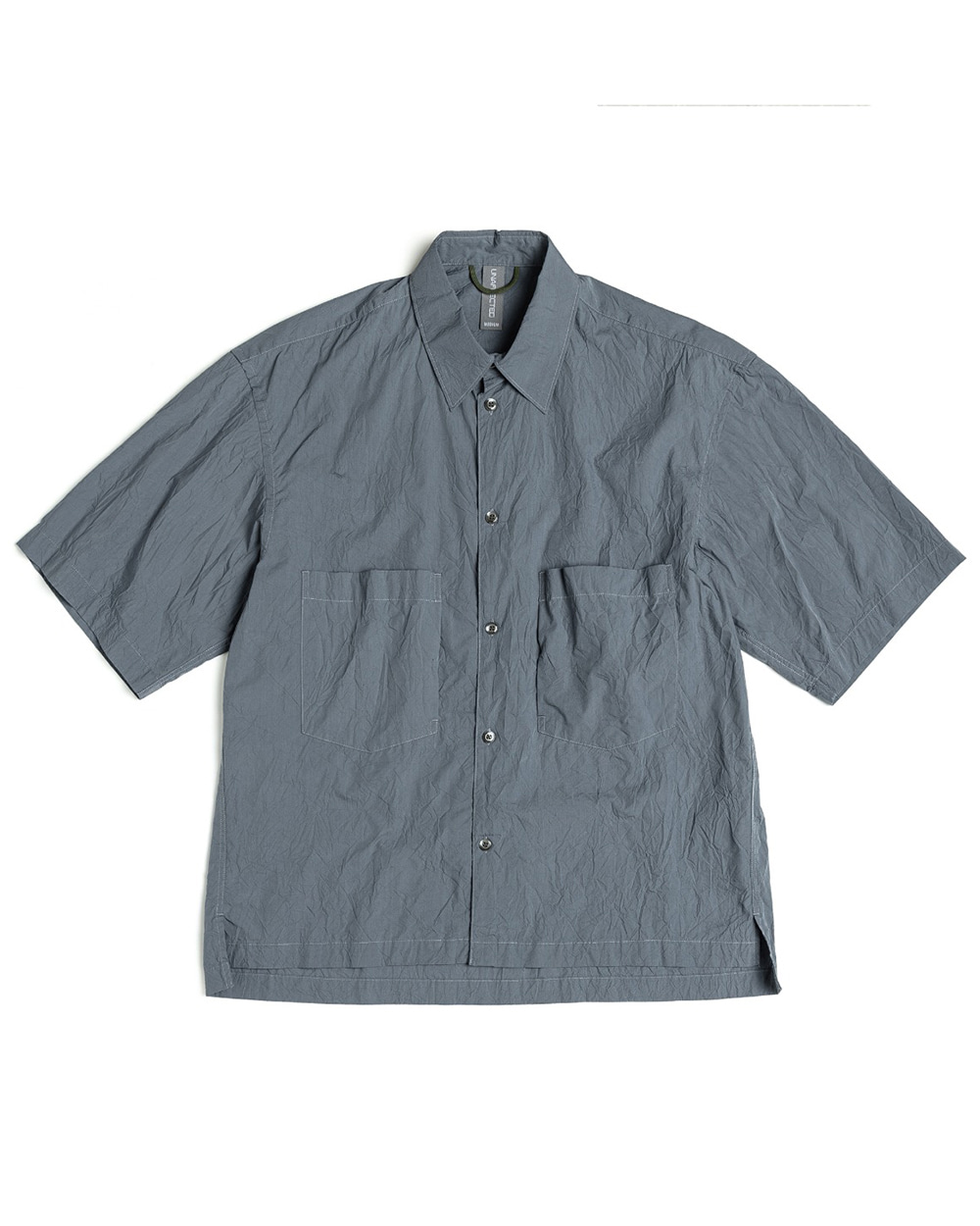 언어펙티드 OVERSIZED HALF SHIRT (Charcoal blue)
