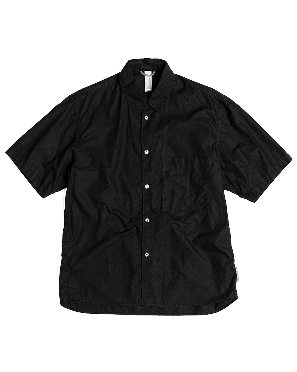 언어펙티드 LOGO LABEL HALF SHIRT (Black)